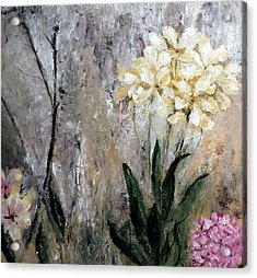 Acrylic Print featuring the painting Spring Desert Flowers by Lisa Kaiser