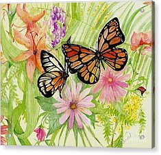 Spring Fancy Acrylic Print by Laneea Tolley