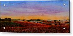 Spring Fields Acrylic Print by Thomas Kuchenbecker