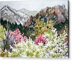 Spring Flatirons Acrylic Print