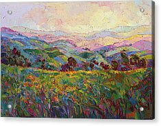 Acrylic Print featuring the painting Spring Fling by Erin Hanson