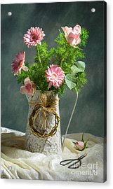 Spring Floral Bouquet Acrylic Print by Amanda Elwell