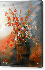 Acrylic Print featuring the painting Spring Flower Bouquet by Dorothy Maier