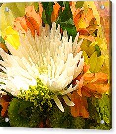 Spring Flower Burst Acrylic Print by Amy Vangsgard