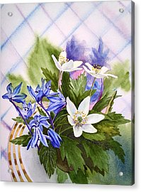 Acrylic Print featuring the painting Spring Flowers by Irina Sztukowski