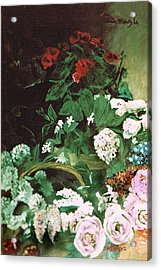 Spring Flowers Study Of Monet Acrylic Print