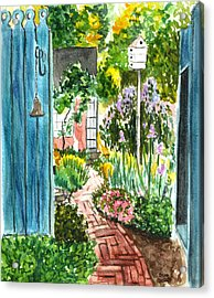 Acrylic Print featuring the painting Spring Garden by Clara Sue Beym