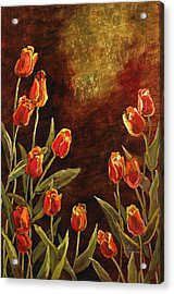 Acrylic Print featuring the painting Spring Garden II by Vic  Mastis