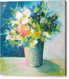 Spring Green Posy Acrylic Print