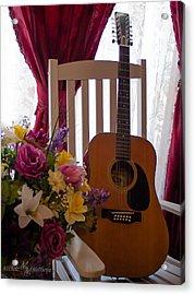 Spring Guitar Acrylic Print