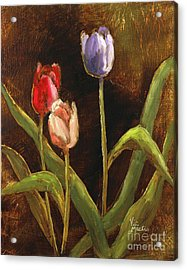 Acrylic Print featuring the painting Spring Has Sprung by Vic  Mastis