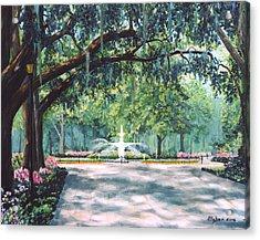 Spring In Forsythe Park Acrylic Print