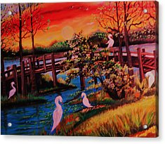Acrylic Print featuring the painting Spring In Lutz Florida by Yolanda Rodriguez
