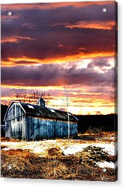 Spring In New England Acrylic Print by Fred LaPoint