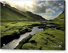 Spring In Scotland Valley Acrylic Print by Matt Tilghman