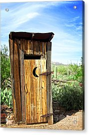 Spring In The Desert And The Out House Acrylic Print