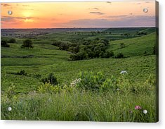 Spring In The Flint Hills Acrylic Print by Scott Bean
