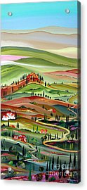 Spring In Val D Orcia Toscana Acrylic Print by Roberto Gagliardi