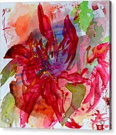Spring Is A Messy Business Acrylic Print by Beverley Harper Tinsley