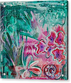 Acrylic Print featuring the painting Spring by Jocelyn Friis