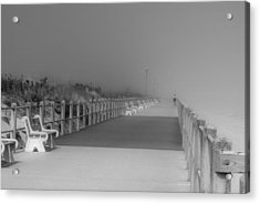 Spring Lake Boardwalk - Jersey Shore Acrylic Print
