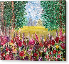 Spring Meadows Acrylic Print by Janie Kraemer