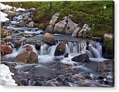 Acrylic Print featuring the photograph Spring Melt by Bob Noble Photography