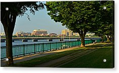 Spring Morning By The Charles River Acrylic Print