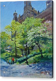 Spring Morning In Central Park Acrylic Print