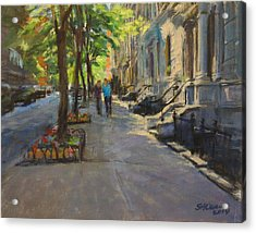Spring Morning On West 85th Street Acrylic Print