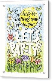 Spring Party Acrylic Print