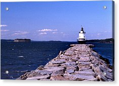 Spring Point Ledge Lighthouse Acrylic Print by Skip Willits