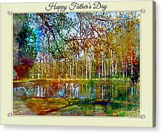 Spring Pond Photoart Father's Day Acrylic Print by Debbie Portwood
