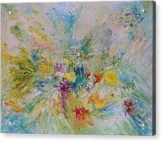 Spring Rain Acrylic Print by Rosie Brown