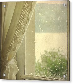 Acrylic Print featuring the photograph Spring Rain by Sally Banfill