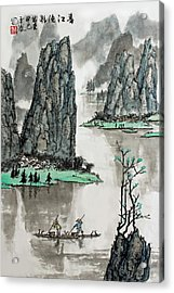 Spring River Acrylic Print by Yufeng Wang