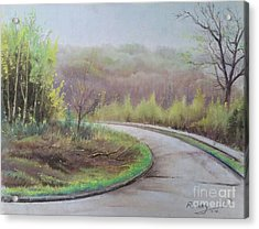 Acrylic Print featuring the painting Spring Road by Rose Wang