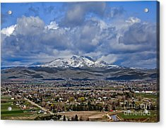 Spring Snow On Squaw Butte Acrylic Print
