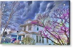 Spring Storm Acrylic Print by Larry Bodinson