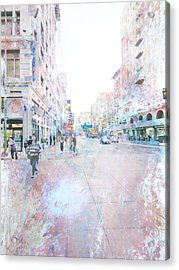 Spring Street Los Angeles Acrylic Print by John Fish
