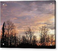 Spring Sun Sets Acrylic Print by Gene Cyr