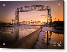 Spring Sunset In Canal Park Acrylic Print
