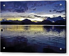 Acrylic Print featuring the photograph Spring Sunset by Timothy Latta