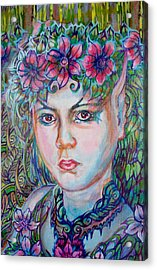 Acrylic Print featuring the painting Spring by Suzanne Silvir