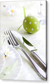 Spring Table Setting Acrylic Print by Mythja  Photography