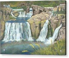 Spring Thaw At Shoshone Falls Acrylic Print