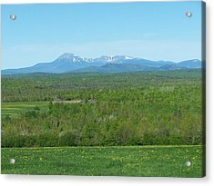 Acrylic Print featuring the photograph Spring Time Katahdin by Gene Cyr