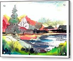 Spring Time On The Farm Acrylic Print