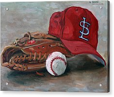 Spring Training  Acrylic Print by Nora Sallows