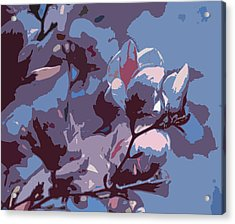 Spring Tulip Tree Abstract Acrylic Print